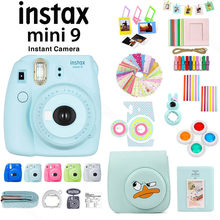 Fuji Fujifilm Instax Mini 9 Instant Camera and Accessory Set including PU Leather Case/Album/Lens Filters/Stickers/Photo Frames(China)