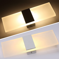 Hot Sale 6W LED Acrylic Wall Sconce Lamp Room Office Canteen Decor Fixture Light Black And