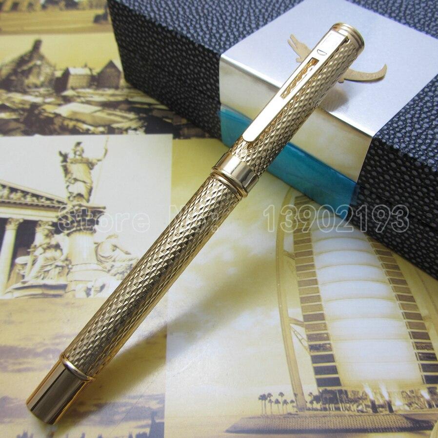 wholesale-Crocodile golden Raised Barrel fountain pen Luxury stationery executive writing Ink pen Original box  Cc1096303