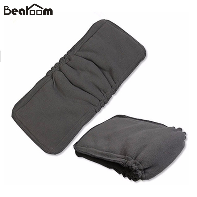 1 PCS Bamboo Charcoal Cotton Cloth Diapers Inserts Nappy Changing Mat Baby Diapers Reusable  Changing Pad 5 Layers Cloth Diaper