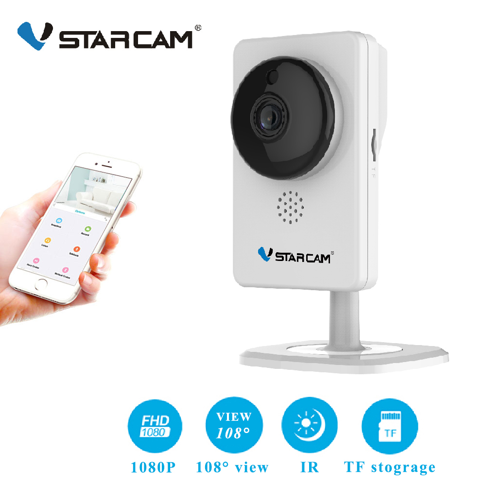 Vstarcam Mini wifi Camera 1080P Infrared night vision Motion Alarm Video Monitor IP Camera C92S White-in Surveillance Cameras from Security & Protection    1