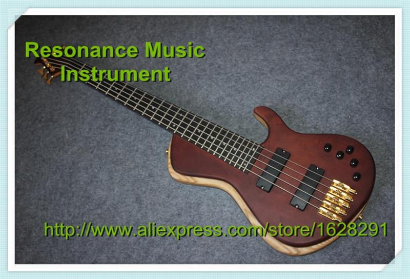 Édition chaude guitare électrique chinoise Fodera basse 5 cordes ébène Fretboard étoiles incrusté en Stock