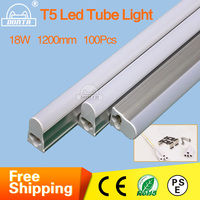 Fedex Free Shipping PVC Plastic LED Tube T5 Light85 265V 4ft LED Fluorescent Tube T5 Wall