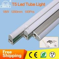 Fedex Free Shipping PVC Plastic LED Tube T5 Light85 265V 4ft LED Fluorescent Tube T5 Wall