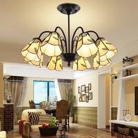 Europeu mediterrâneo lâmpada do teto estilo pastoral sala de estar luz lustre restaurante lâmpadas iluminação|Luzes de pendentes| |  -