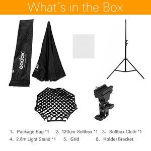 Image 2 - Godox 120Cm Paraplu Achthoekige Honingraat Rooster Softbox Met 280Cm Aluminium Licht Stand, houder Bracket Kit Voor Flash Speedlight