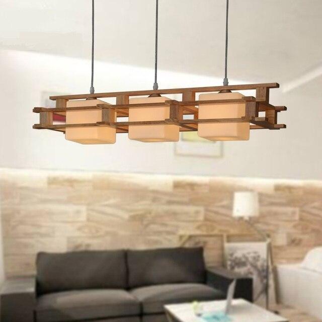 A1 Eenvoudige Japanse Hanglampen nieuwe creatieve houten eetkamer ...