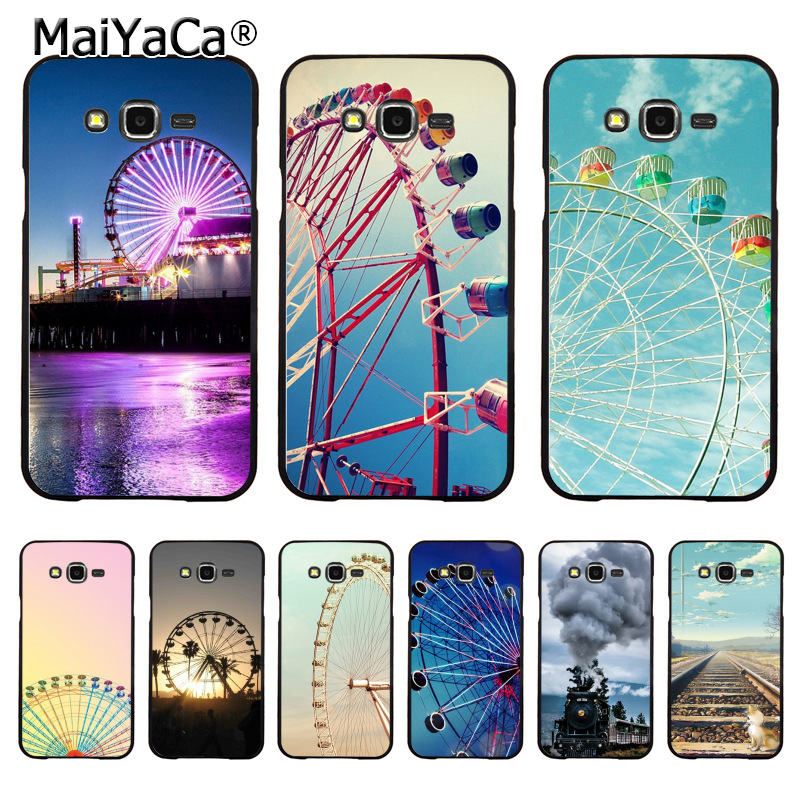 MaiYaCa Ferris wheel Railway New Personalized Phone Accessories for samsung J5 j120 j3 j7(2015) note 3 note4 note5 case coque