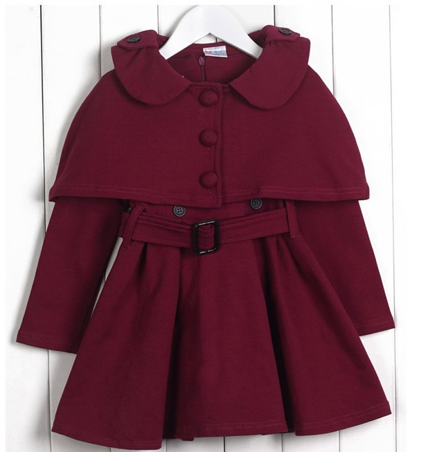 Kids Girls Dresses 2018 New Winter Solid Fashion Princess Long Sleeve Double Breasted Thicken Dresses Baby Girls Clothing 6ds042 kids girls dresses 2018 new winter solid