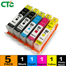 5PCS for hp 564 for hp564 compatible ink cartridge for hp Photosmart 5510 5511 5512 5514 5515 5520 5522 5525 4610 4620 printer