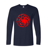 2017 Best Gift For Friend Game Of Thrones Targaryen Dragon Fire And Blood Funny Long Sleeve