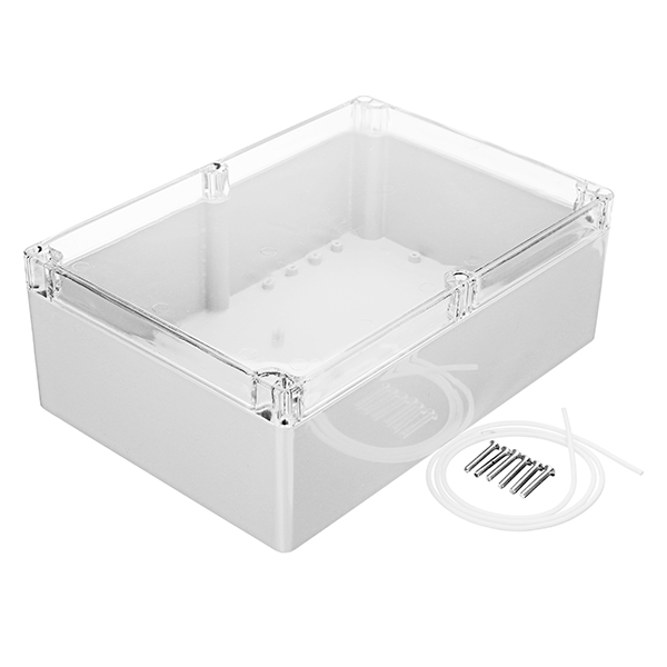 цена на 263 x 185 x 95mm Plastic Waterproof Housing Junction Case Power Supply Box Transparent Cover Electronic Sealed Instrument New