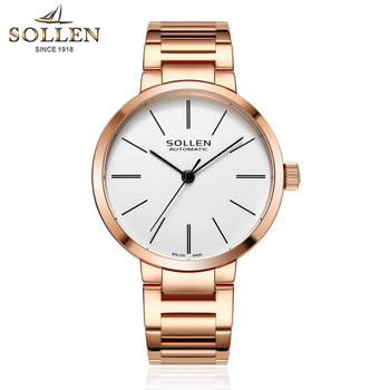Luxury Brand Simple Women Watches Automatic Mechanical Bracelet Watch Ladies Waterproof Steel Dress Wrist Watches for Women