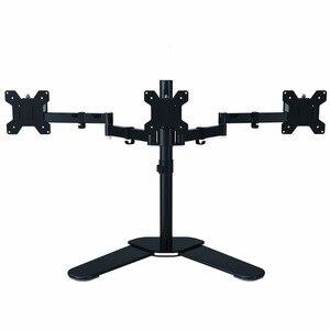 Полностью регулируемый трехрычажный ЖК-светодиодный кронштейн для монитора, монтируемый в стол для 13