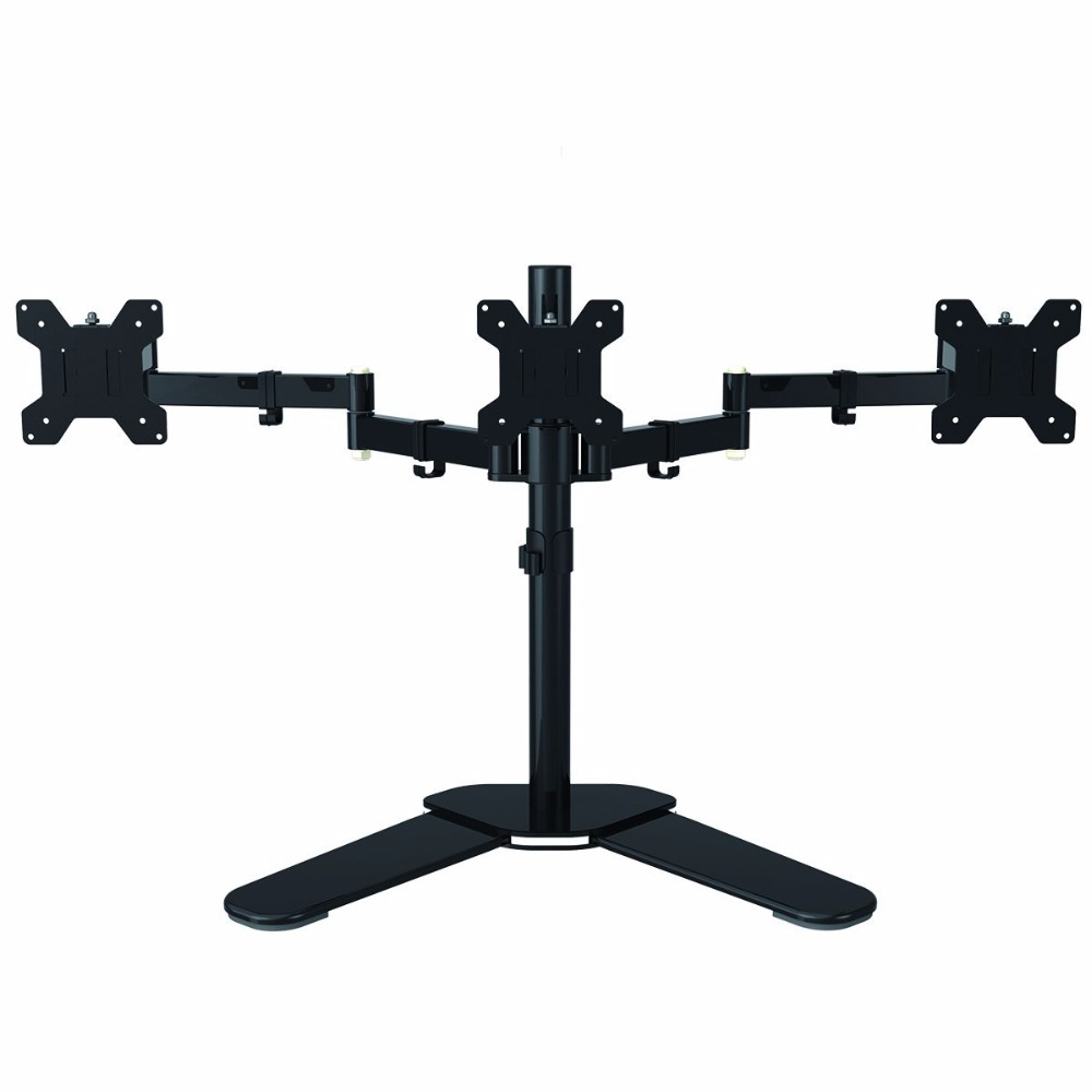 Fully Adjustable Triple Arm LCD LED Monitor Stand Desk Mount Bracket for 13-27 Screens 180  Pull Out Swivel Arm ML6463 m190etn01 0 lcd display screens