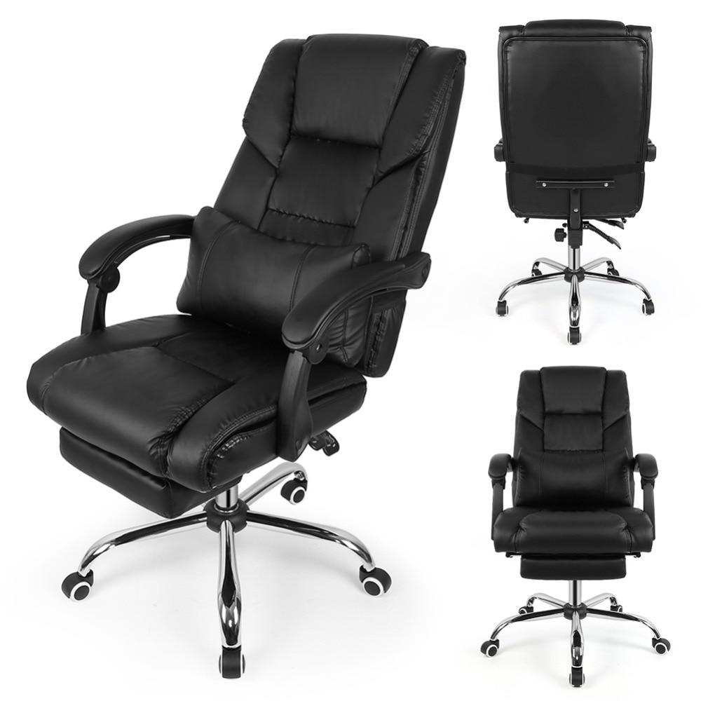 Fauteuil de bureau chaise de bureau avec repos pieds - Chaise de bureau avec accoudoir ...