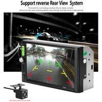Car Multimedia Player HD 7 Autoradio 2 Din Car Radio Coche Recorder Touch Screen Bluetooth FM Transmitter Auto Car MP5 NO GPS