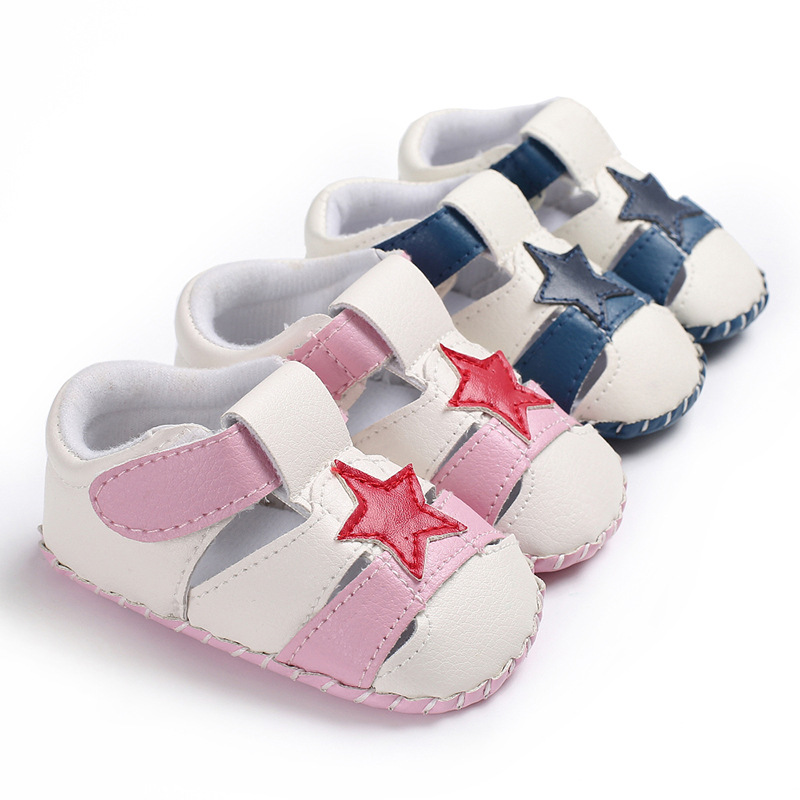 Men And Women Baby Five-pointed Star Spring And Autumn Rubber Bottom Non-slip Baby Toddler Shoes