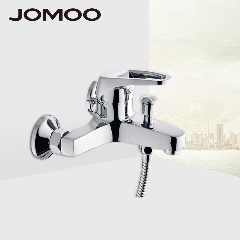 JOMOO Shower Faucet Mixer Brass Chrome Wall Mounted Bathtub bath Faucet Bathroom Single Handle Hot And Cold Tap quality design все цены
