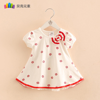 Baby Girl Dress Lovely Floral Short Sleeve Children Clothes Cotton Soft Girl Clothes Children Clothing Costume