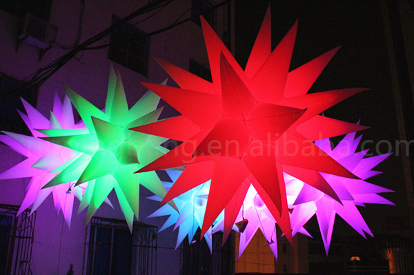 Free shipping diameter 1.5m Illuminated Advertising Led Inflatable Stars For Sale