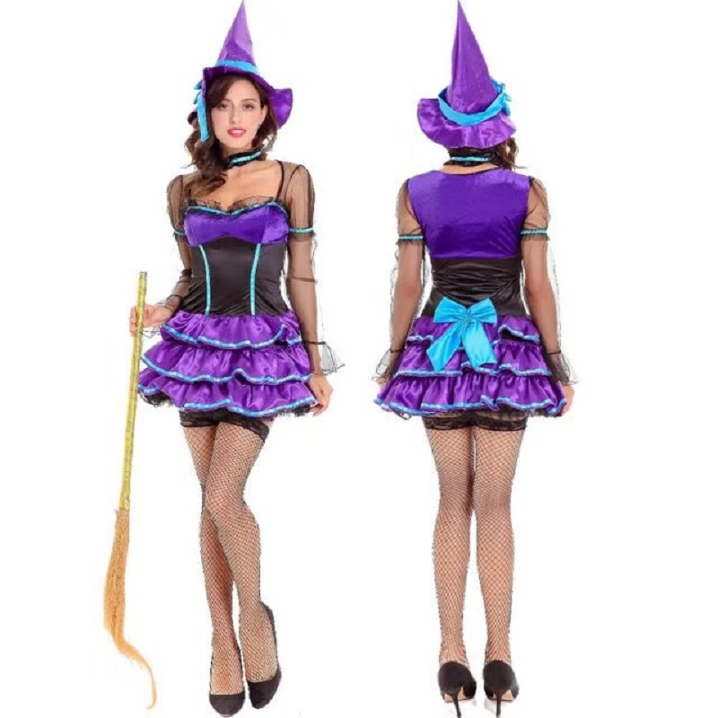 2017 Purple Witch Dress Witch Game Cosplay Uniforms Female ...