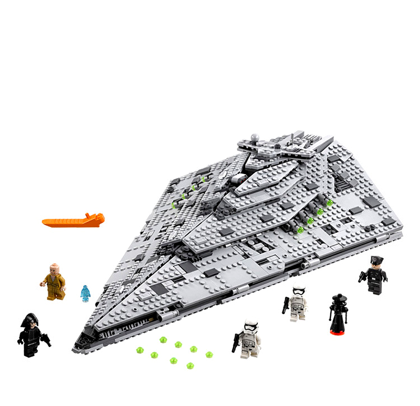 Bela 10901 First Order Star Destroyer Costruzion Model 1457pcs Starwars Building Blocks Bricks Toys