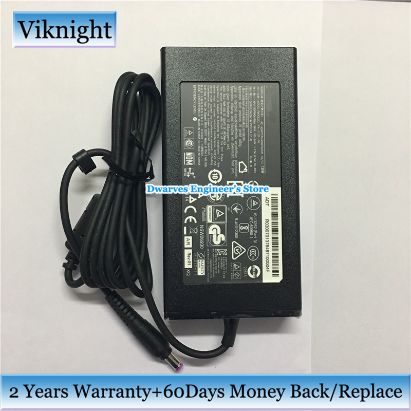 Original ADP-135KB T 19V 7.1A 135W AC Adapter for ACER ASPIRE VX15 VX5-591G VN7-792G-74H5 V17 NITRO VN7-792G-709L Power Supply 19v 7 1a 135w 5 5 1 7mm laptop adapter for acer aspire v17 nitro vn7 792g 59cl adp 135kb t pa 1131 05 pa 1131 16 power suppliers