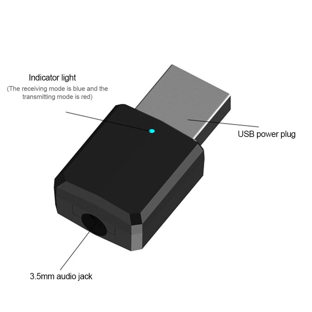 Mini adaptateur Audio stéréo Portable 2in1 Bluetooth 3.5mm AUX USB sans fil 5.0 récepteur émetteur pour la maison TV MP3/4 PC voiture