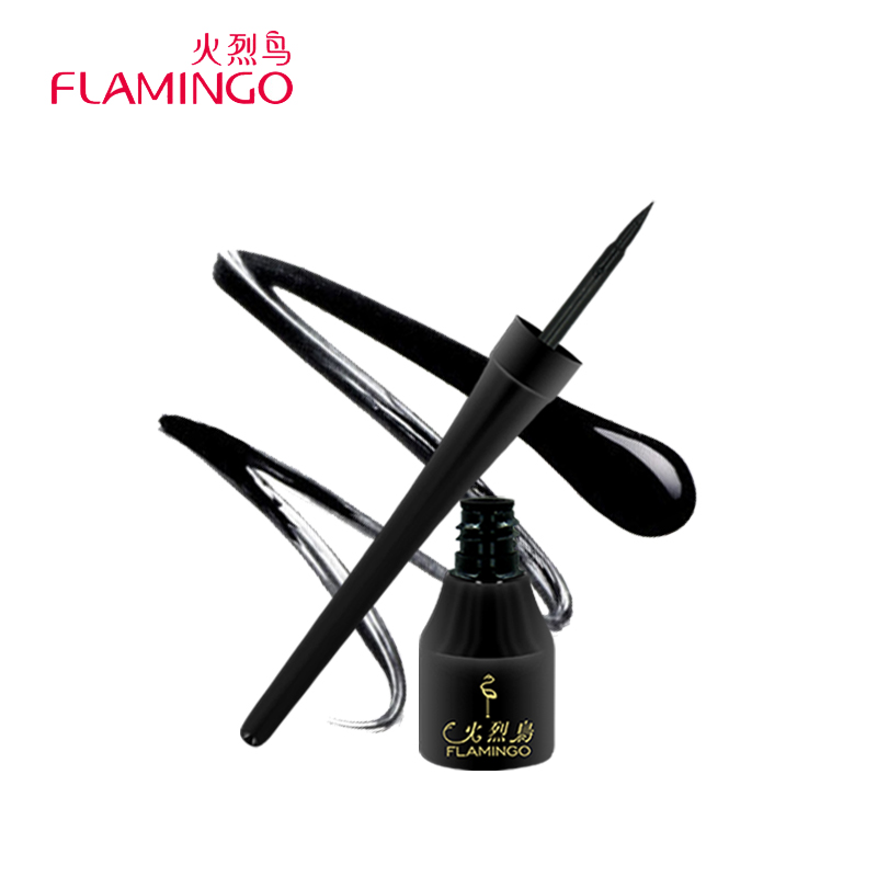 Kina Top Brand Flamingo Anti-blomstrende Langvarig Lett å bruke Black Natural Safe Liquid Eyeliner 131