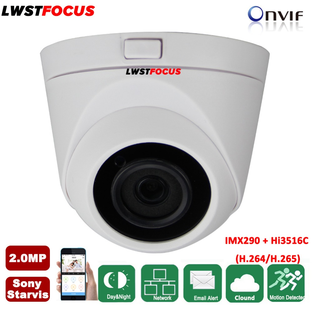 Sony Starvis POE 2MP IP Camera 1080P H.265/H.264 Outdoor Waterproof IR 20M CCTV Dome Surveillance Full HD Camera Security ONVIF hikvision ultra low light ds 2cd3t26wd i5 2mp cctv h 265 ip bullet camera support onvif poe ir 50m waterproof outdoor