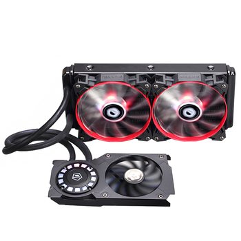 ID-cooling Frostflow 240VGA LED comet light cream stream integrated graphics water cooling radiator RTX2000 RX5700 ready