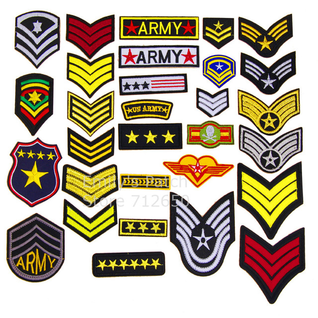 New Arrival 10 Pcs Us Army Badge Shoulder Symbol Embroidered Patches
