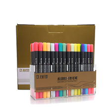 STA 80 Colors Double Head Artist Soluble Colored Sketch Marker Brush Pen Set For Drawing Design Paints Art Marker Supplies 72 100colors double head artist sketch watercolor brush pen set for comics drawing design paints art marker school supplies