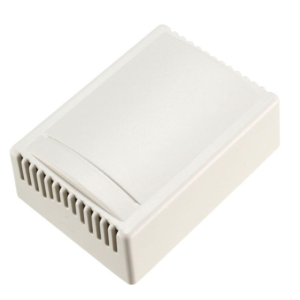 Uxcell 1 Pcs 75x55x28mm Recinto Caso Eletrônico ABS caixa de Junção Caixa de Alarme DIY Off White para o Sinal de Chassis
