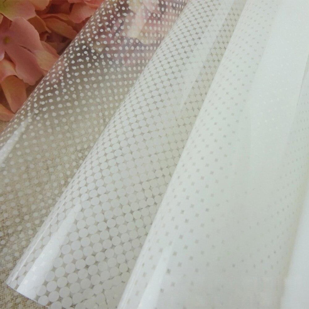 Blanc Dot Unique-façon Gradient Fenêtre Film Progressive Givré Fenêtre Film Auto-Adhésif Décoratif Semi-Verre intimité Autocollant