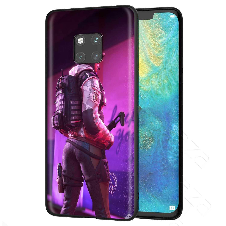 Lavaza R6 Rainbow 6 Bao Vây Ốp Lưng cho Huawei Mate Y7 Y9 P8 P9 P10 P20 P30 Lite Pro P Thông Minh mini 2017 2019