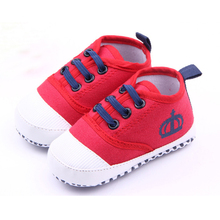 Solid canvas soft sole baby boy shoes breathable designer ba