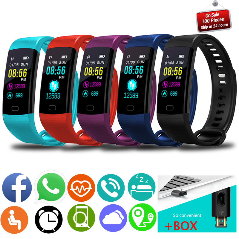 Купить с кэшбэком LIGE blood pressure heart rate monitor PPG ECG Smart bracelet Men fitness tracker Sport Pedometer Smart Watch intelligent band