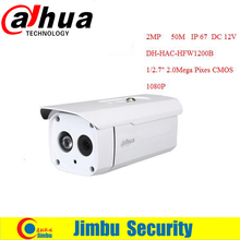 "DAHUA HDCVI Cámara Bala HFW1200B 1/3 ""2.0 Megapíxeles CMOS 1080 P IR 50 M IP66 DH-HAC-HFW1200B cámara de seguridad"