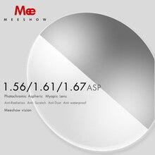 1.56 1.61 1.67 Đơn Thuốc Ống Kính Photochromic Ống Kính Đơn Thuốc Cận Thị Hyperopia Kính Mát UV400 Ống Kính