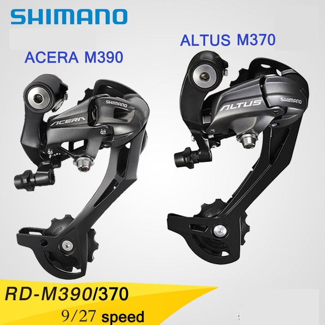 US $22 83 10% OFF|SHIMANO ACERA RD M370/390 Bicycle parts Mountain bike  Rear Derailleur MTB Mountain Bike Derailleur 9*27 Speed Bicycle parts-in