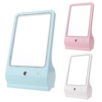 New 1 Set Water Spray LED Makeup Mirror Lamp USB Make Up Mirror Desktop Dressing New Small Cosmetic Mirror for Women