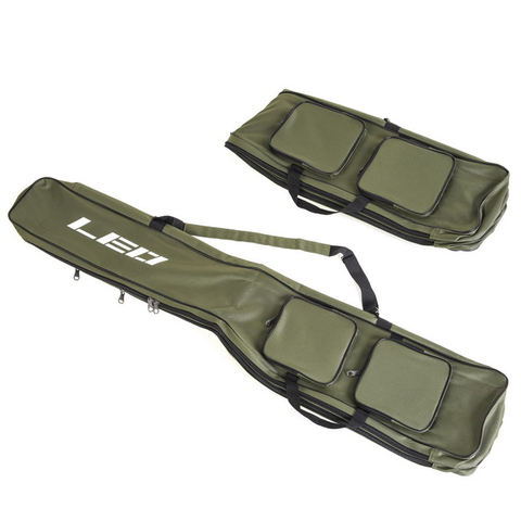 Leo Fishing Bags 130Cm Foldable Multi-Purpose Fishing Bags Fishing Rod Bags Zipped Case Fishing Tackle Bags Pouch Holder Islamabad