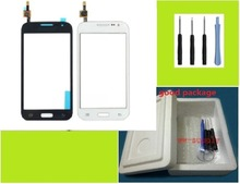 For Samsung Galaxy Core Prime SM-G361F Front Top Touch Screen lens Digitizer Glass Panel + Sticker + Kits  Free shipping