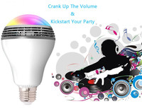 Multi Color Available Portable Wireless Buletooth Music Player Smart LED Light Bulb Audio Speaker Via Wifi