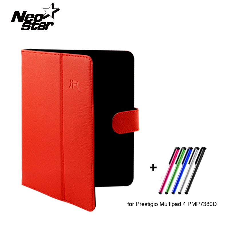 Universal 7 8 inch Tablet PU Leather Case Stand Cover for Prestigio Multipad 4 PMP7380D 3G with Stylus pen купить
