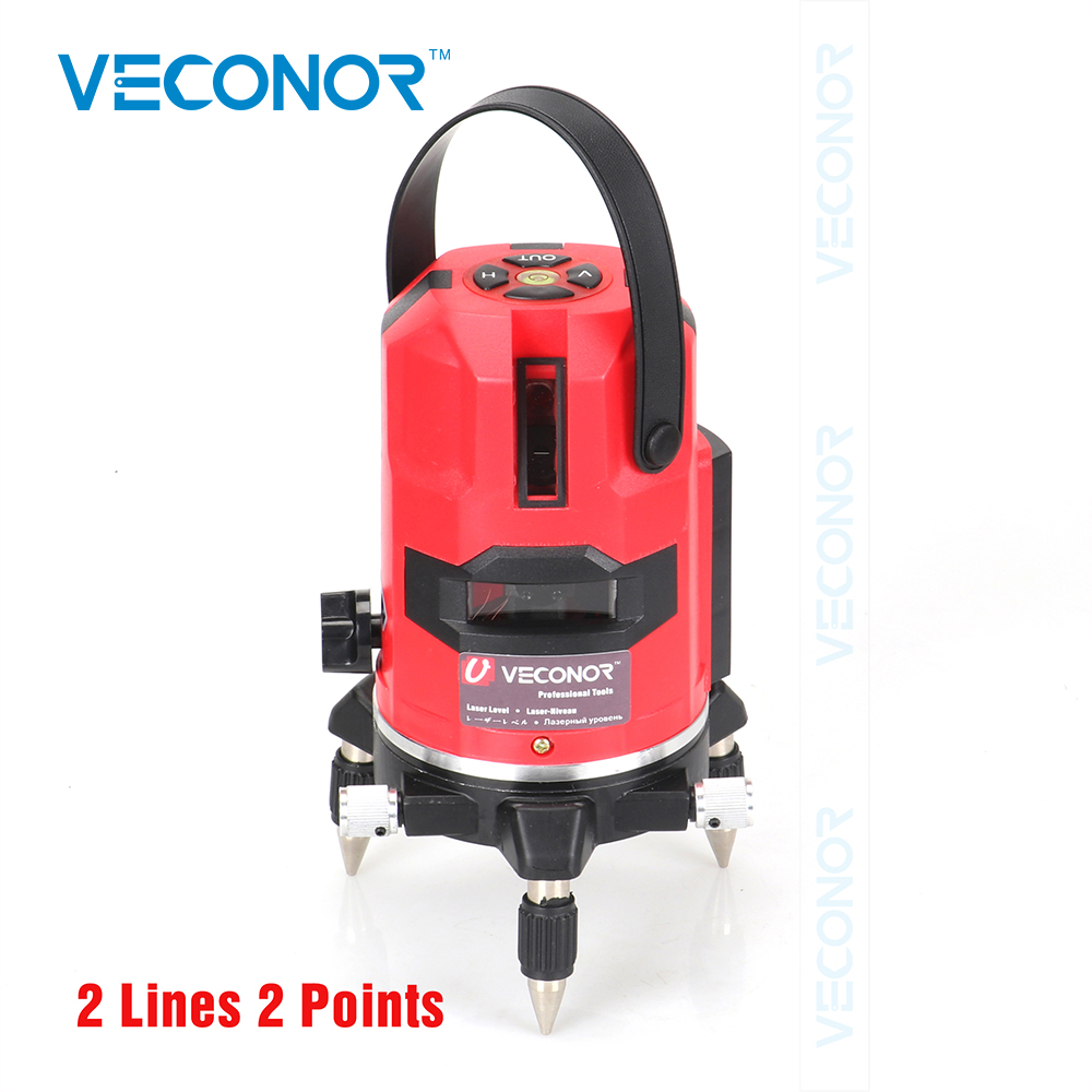 Veconor laser level 2 lines 2 points laser line projectors self leveling vertical horizontal line leveling tools thyssen parts leveling sensor yg 39g1k door zone switch leveling photoelectric sensors