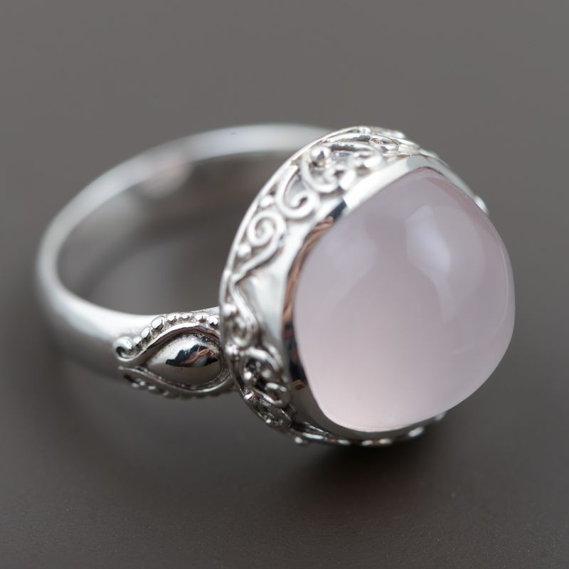 FNJ Natural Stone Ring 925 Sterling Silver anillos Male Pink Stone Vintage S925 Thai Silver Rings for Women Jewelry 925 pure silver jewelry vintage green natural stone thai silver female royal wind ring rich
