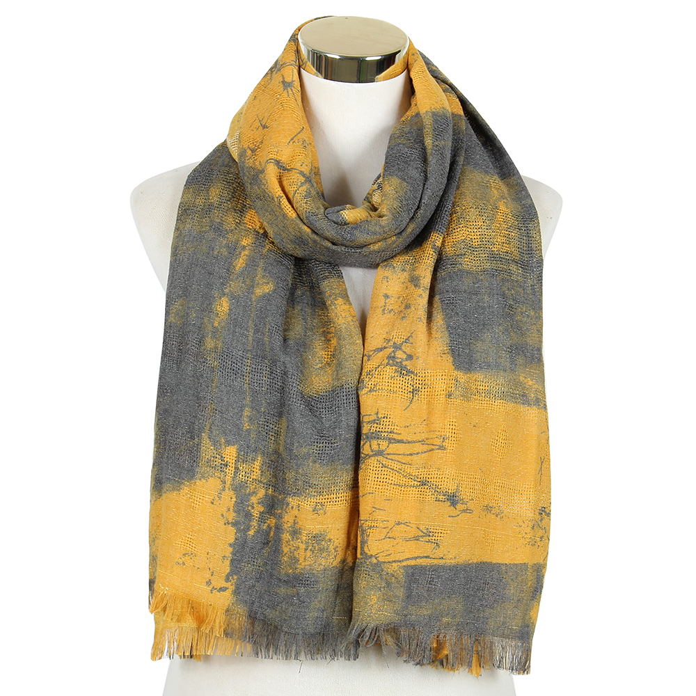 2018 Fashion Tie Dyeing Yellow Soft Long Scarf Shawls And Wraps For Ladies Women Female Patchwork Scarves